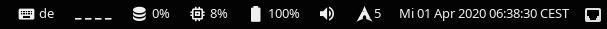 screenshot of status bar